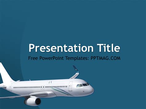 free airplane powerpoint template pptmag