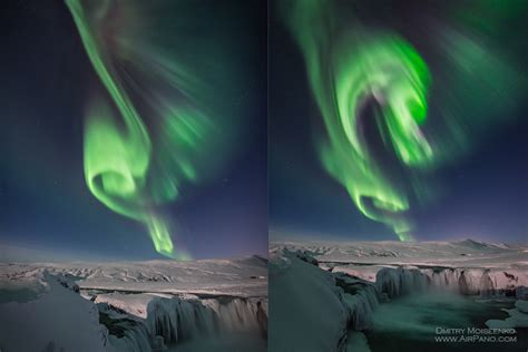polar lights in iceland 360 176 aerial panoramas 360