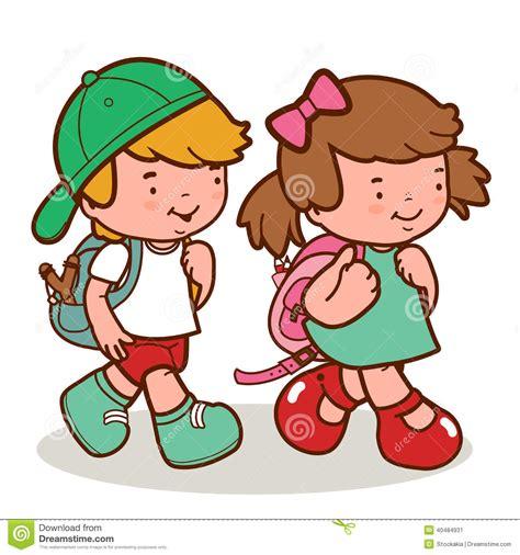 imagenes niños que van ala escuela paseo cauc 225 sico de los ni 241 os a la escuela ilustraci 243 n del