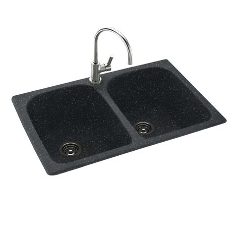 Solid Surface Undermount Sinks by Swan Drop In Undermount Solid Surface 33 In 1 50 50