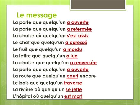 le message jacques prevert le message