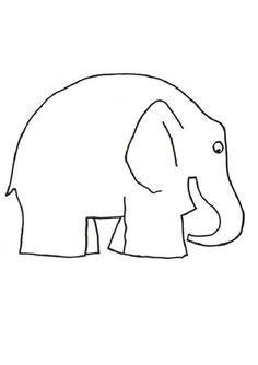 Elmer The Elephant Template by Kleur De Olifant Of Plak Er Groene Rode Gele En Blauwe