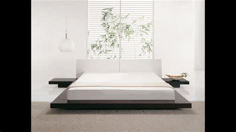 beliani wooden bed japan style king size with
