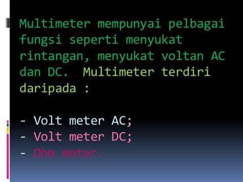 Voltmeter Volt Meter Arus Ac Merk Heles Alat Alat Pengujian Asas Elektrik