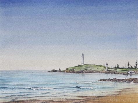 paint a seascape in watercolours wollongong nsw australia