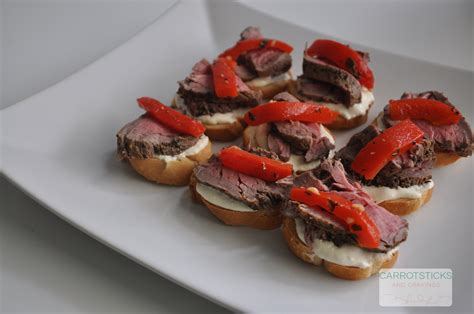 beef canapes recipes roasted beef canap 233 s carrotsticks and cravings