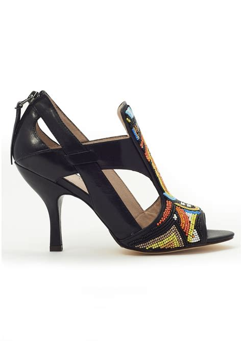 beaded heels house of harlow beaded heels in black