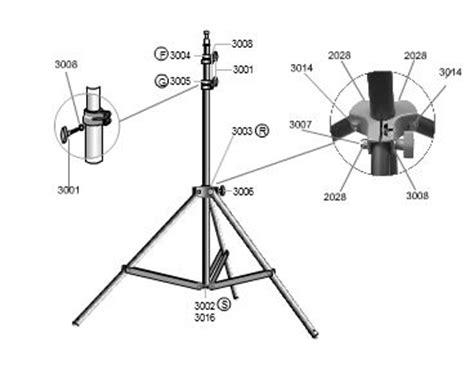 lowel uni to light stand lowel ks light stand upper riser casting w knob 3001 part