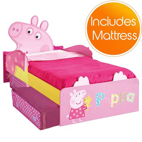 peppa pig toddler bed peppa pig mdf toddler bed with storage mattress new