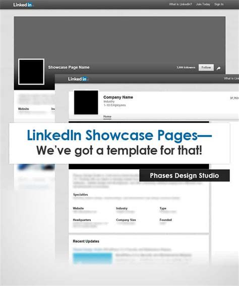 linkedin profile template linkedin company profile template update for showcase pages