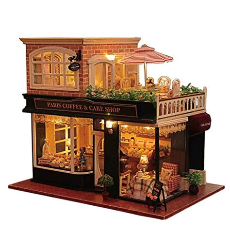 hand made doll houses rylai wooden handmade dollhouse miniature diy kit romantic cafe series wooden
