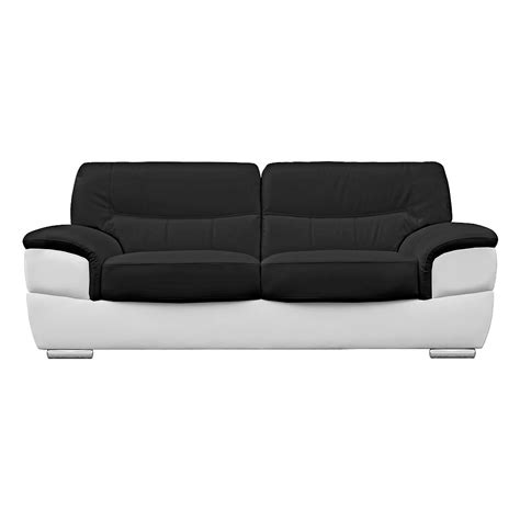 Barletta Inspired Black And White Sofa Leather