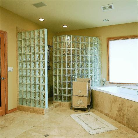 no walls glass block showers pictures and photos
