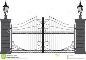 Modern Front Door Designs iron gate 2 stock vector image 43070377