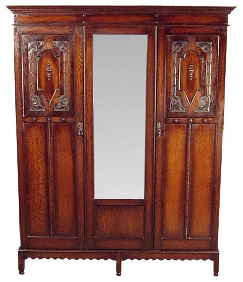 antique oak armoire wardrobe antique oak 2 door armoire wardrobe closet traditional