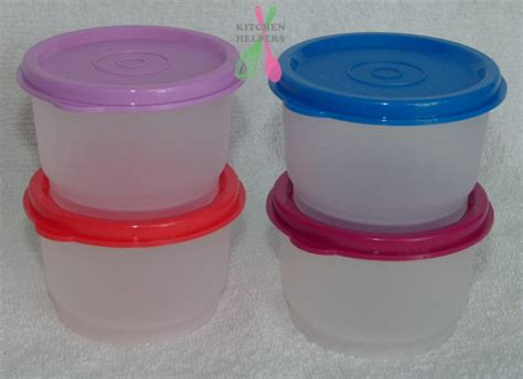 Snack It Tupperware tupperware snack cups set of 4 choose your colors brand new baby child picnic ebay