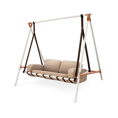 Hanging Sofa Swing by Leather Swing Seats Adding Chic Of Modern Hanging Chairs