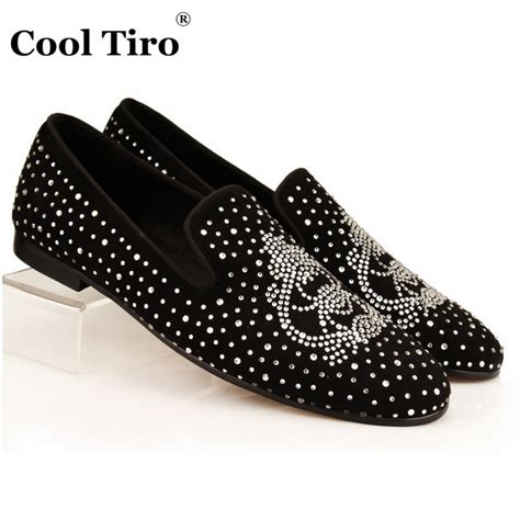 cool mens slippers cool tiro strass loafers black suede