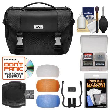 nikon deluxe digital slr gadget bag with pop up filter set kit for d3200 d3300