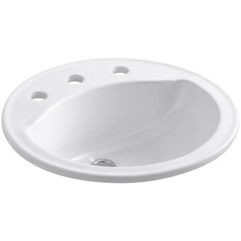 sterling bathroom sinks sterling modesto drop in ceramic bathroom sink in white