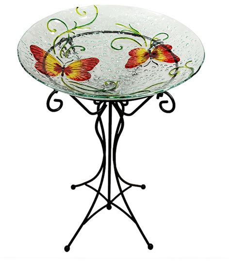 hand painted butterfly spring outdoor glass garden bird