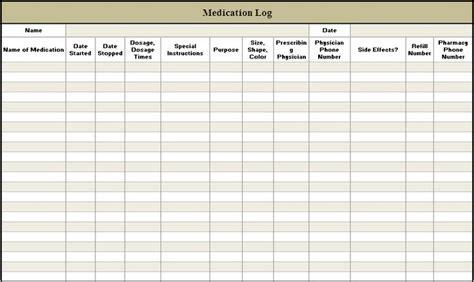 Daily Medication Log Template Printable Medication Log Sheet Medicine Ideas Pinterest Pharmacist Schedule Template