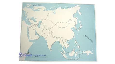montessori equipment asia map unlabeled