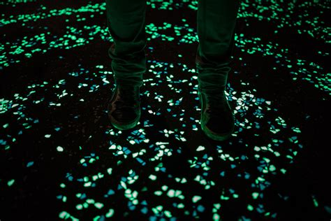 glow in the paint perth starry walkway in the netherlands lights up the