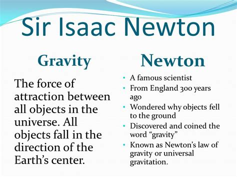 isaac newton biography gravity what is gravity section ppt download