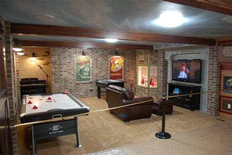 Make Your Basement Ideas So Cool Basement Finish So Want To Add Brick To The Wall In The Basement What A Cool Look