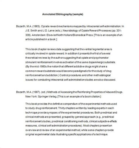 annotated bibliography template 7 annotated bibliography templates free word pdf