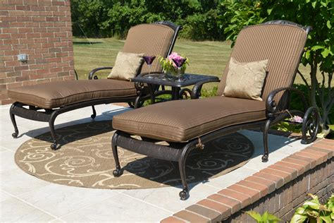 chaise lounge patio furniture amalia luxury cast aluminum patio furniture chaise lounge