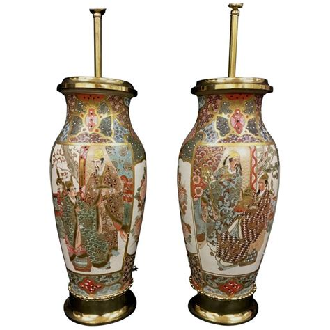 Satsuma Vases For Sale pair of 19th century satsuma vases or ls for sale at 1stdibs