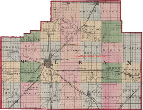 Mclean County Il Records Mclean Illinois Map Afputra