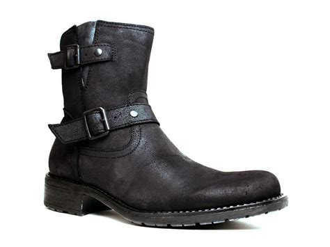 casual motorcycle boots men marco ferretti mens urban casual motorcycle black leather