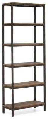 3 Shelf Metal Bookcase Civic Wood And Metal Bookshelf Modern Bookcases New