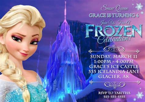 frozen theme  girls party invitations
