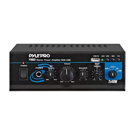 Power Lifier Usb pyle 97075769m mini 2x40 watt stereo power lifier w usb aux inputs