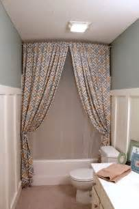 Toilet Curtain Designs A Chic Diy Trick Suburbanspunk Turns Zgallerie Panels