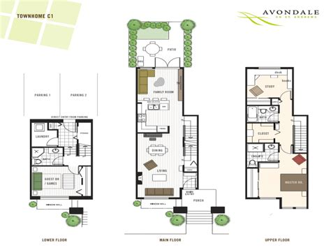 Contemporary Townhouse Plans by Modern Townhouse Floor Plans 3 Story Townhouse Floor Plans