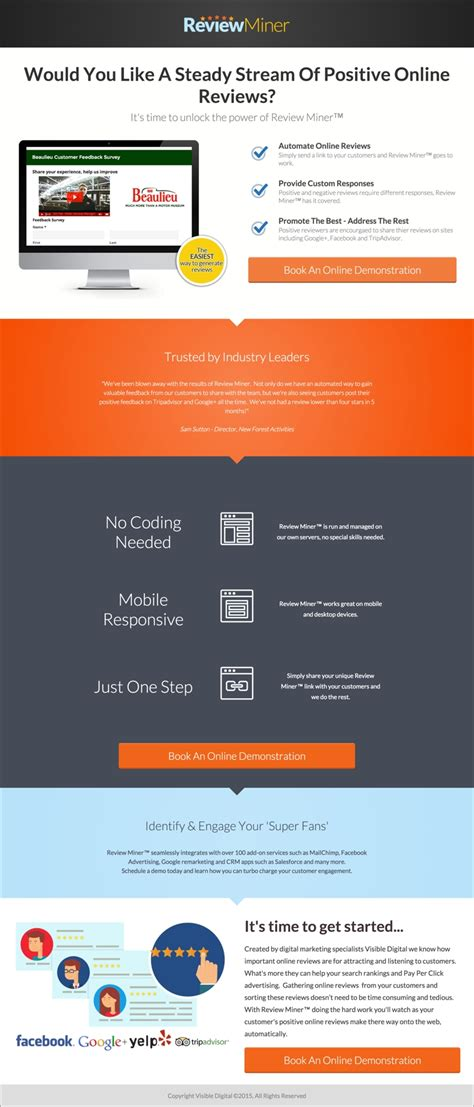 sales landing page template our 10 favorite landing pages from february march 2015