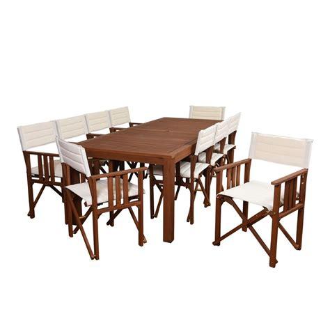 amazonia 11 eucalyptus rectangular patio dining