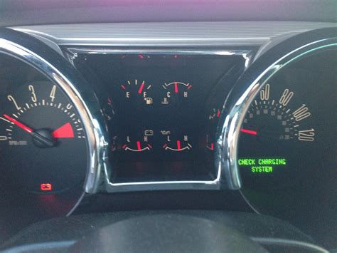 2005 ford mustang check engine light check charging system message ford taurus