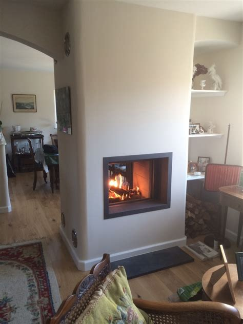 Electric Heat Fireplace by Stuv 21 75 Doublesided Woodburner Installation Wood