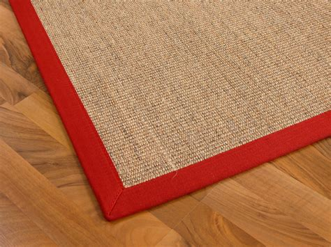 rinderfelle teppiche sisal astra natur teppich nuss bord 252 re rot teppiche sisal