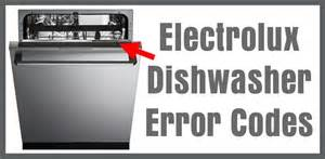 electrolux dishwasher error codes how to clear what to