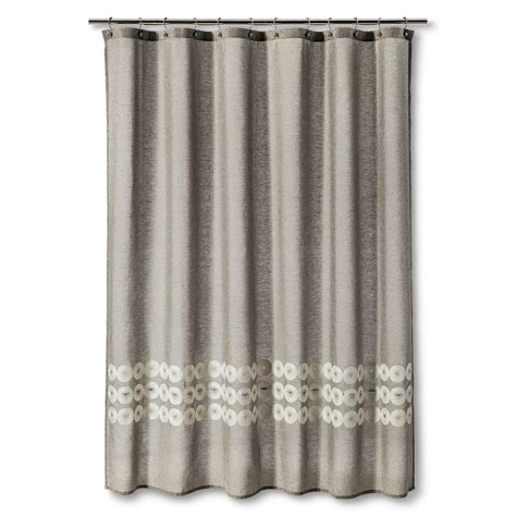 circles shower curtain threshold shower curtain grey circles