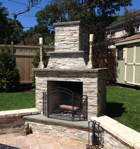 Unilock Permeable Pavers Firerock Fireplace Wall Amp Pillar