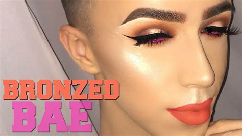 tutorial makeup ala mua winged liner bold lip makeup tutorial mitchell mua