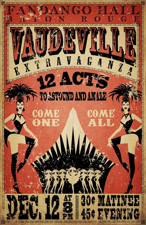 Vaudeville Poster Template 364 best house images on amusement parks